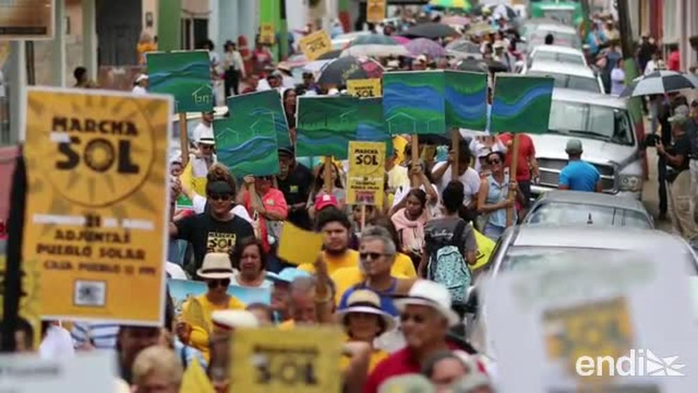 Claman en Adjuntas por la transformación energética del país