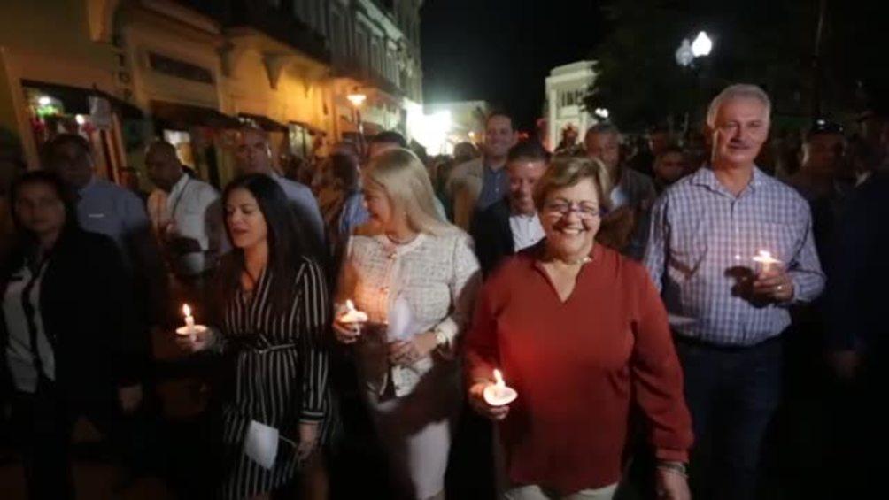 Wanda Vázquez celebra a la VIrgen de la Guadalupe en Ponce