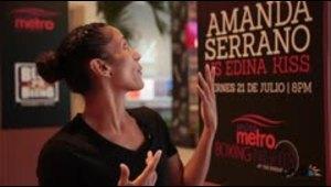 La campeona Amanda Serrano se impresiona al ver la public...