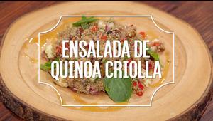 Receta del día: ensalada de quinoa criolla