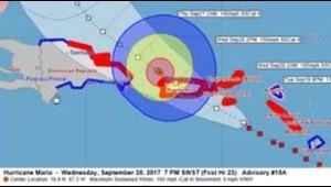 La ruta del huracán María por Puerto Rico
