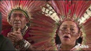 Miles de indígenas amazónicos reunidos en Perú para ver a...