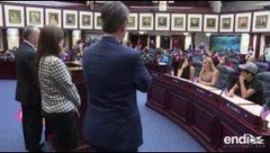 Estudiantes de Florida acaparan a los legisladores para la acción en control de armas