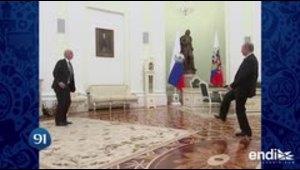 Putin se une a la fiebre de la Copa Mundial de Fútbol