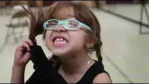 La pequeña Miranda Bernier ahora canta