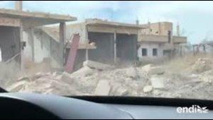El presidente sirio visitó las tropas del régimen en Guta