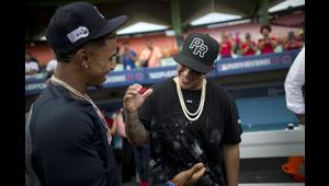 Emocionante encuentro entre Daddy Yankee y Francisco Lindor