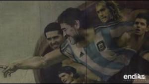 """Messi y Maradona en la curiosa """"Capilla Sixtina"""" del fútbol"""