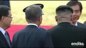 Celebración por todo lo alto en el encuentro de los líderes coreanos