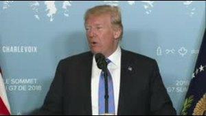 Trump se despide de cumbre G7 con tono más conciliador