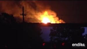 Una bola de fuego arde en Indiana tras la explosión de un tren