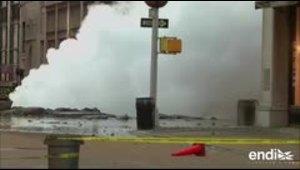 Reportan una explosión de vapor en las calles de Manhattan