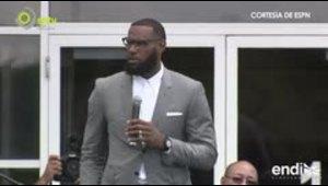 LeBron James cumple un sueño e inaugura un colegio en su ...