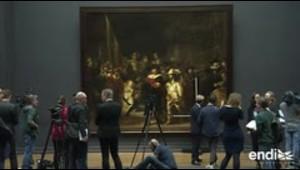"""La pintura """"The Night Watch"""" de Rembrandt será restaurada ante el público"""