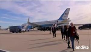 Avión de Melania Trump da media vuelta por incidente mec...