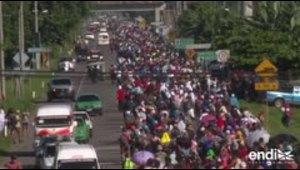 Trump promete hacer todo lo posible para detener caravana