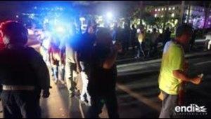 La Utier sale a la calle de noche y protesta frente al Capitolio