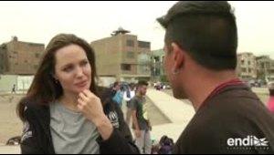 """Angelina Jolie conecta con el """"breakdance"""" y los refugiados venezolanos"""