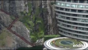 Crean un lujoso hotel dentro de una cantera abandonada