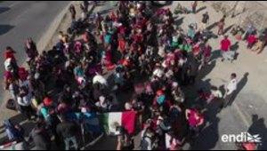Ya hay más de 3,200 migrantes en la frontera entre México...