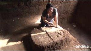 Investigan una aldea maya sepultada por erupción en El Salvador