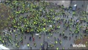 """Disturbios en protestas de """"chalecos amarillos"""" en Francia"""