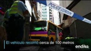 Autobús generó pánico en Hong Kong