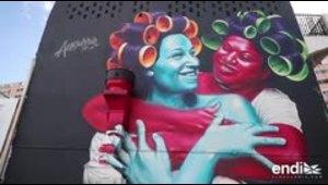 Nuevos murales lleno de simbolismos iluminan a Santurce