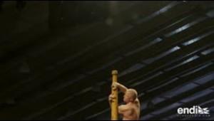"""Yoga en las alturas en primer Mundial de """"mallakhamb"""" en India"""