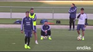 Alegría en la selección argentina con el regreso de Messi