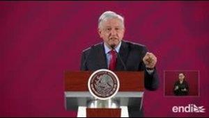 El presidente de México descarta una confrontación con España