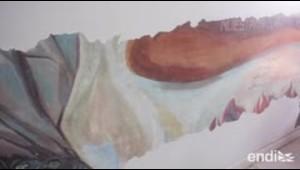 Logran ver cómo va la restauración del mural de José Antonio Torres Martinó