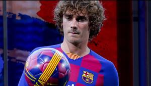 Antoine Griezmann se entrena con el Barcelona