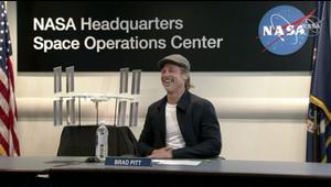 Brad Pitt entrevistó a un astronauta de la NASA en el espacio