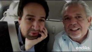 Orgullosos Lin-Manuel Miranda y su padre Luis de promover el voto latino