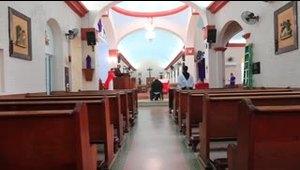 La Iglesia católica celebra su misa de Domingo de Ramos sin feligreses