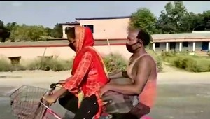 Corrió bicicleta por siete días para salvar a su padre
