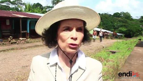 Bianca Jagger lidera marcha campesina contra canal en Nicaragua