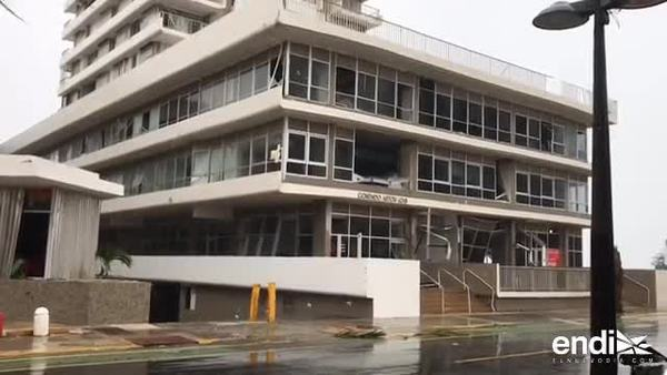 Golpe de María afecta estructuras en Condado