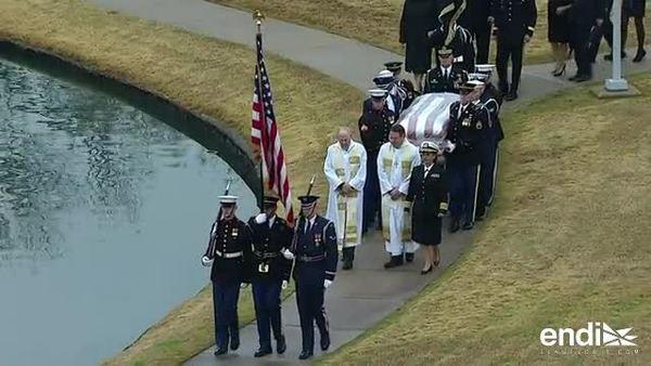Después de cuatro días de homenajes, entierran en Texas a George H.W. Bush