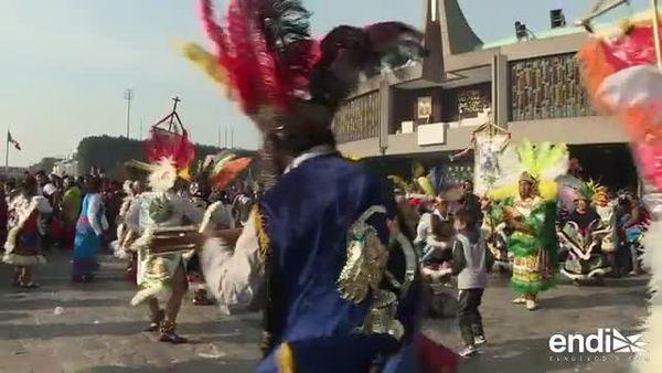 Millones visitan la Basílica de la Virgen de Guadalupe en México