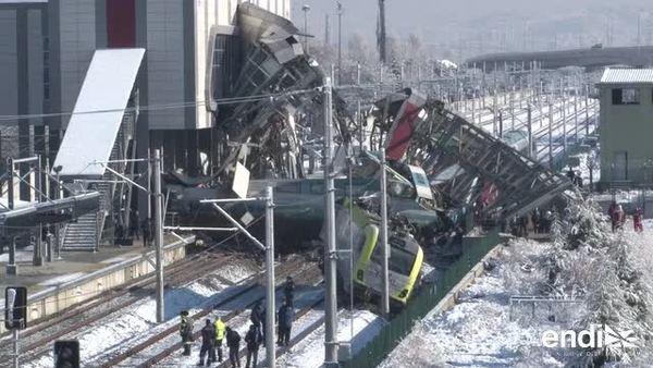 Impresionante accidente entre trenes en Turquía
