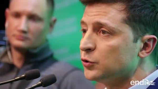 Ucrania, en tensión militar con Rusia, elige presidente a un comediante