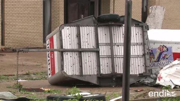 Una violenta tormenta acompañada de tornados azotó a Missouri
