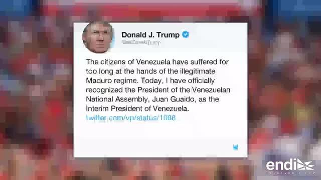Trump, OEA y gobiernos reconocen a Guaidó como presidente venezolano