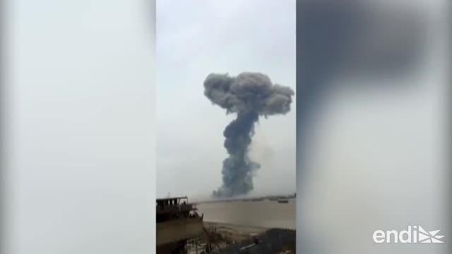 Violenta explosión en una planta química china