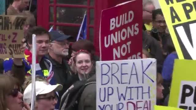 Los oponentes al Brexit salen a marchar para pedir un nuevo referéndum