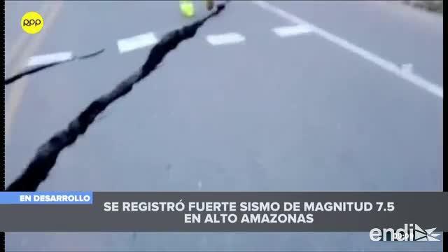 Poderoso terremoto sacude el norte de Perú