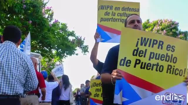 Realizan protesta en contra de la privatización de WIPR
