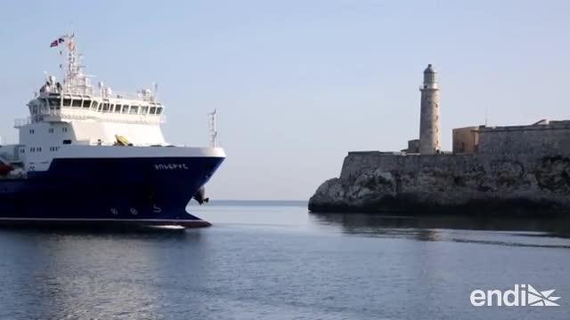Llega un barco militar ruso a las costas cubanas
